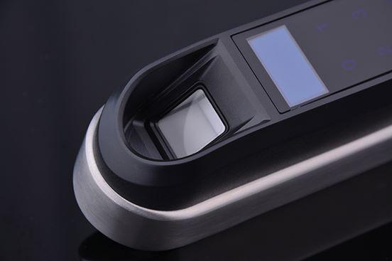 Pantalla cerradura electrónica biométrica por huellas autónoma para puertas