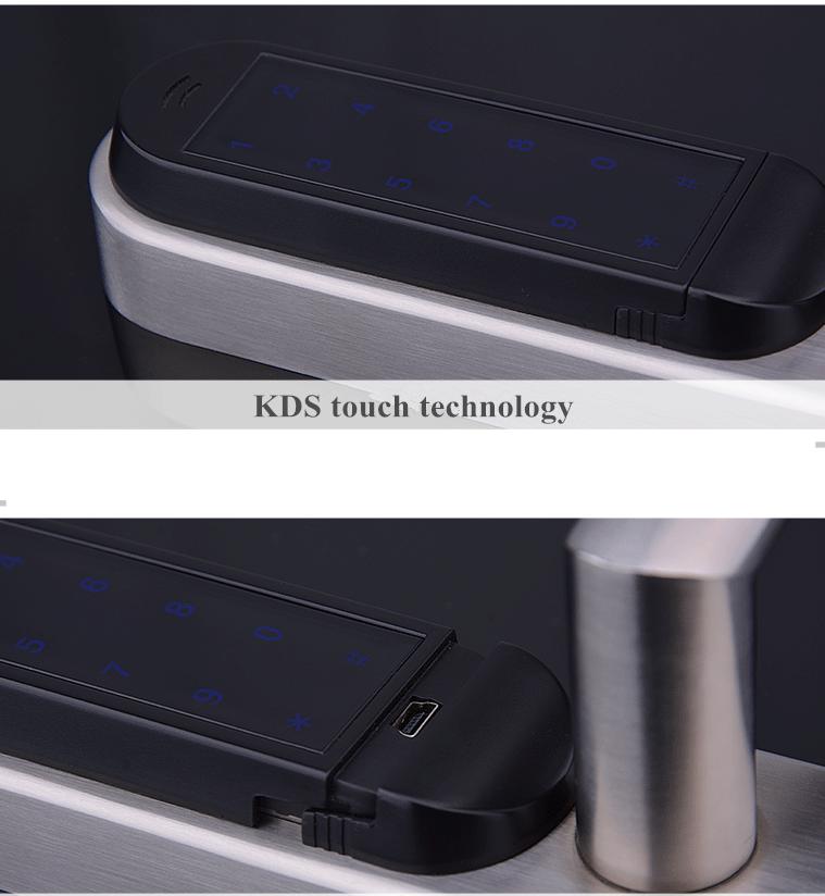 Pantalla digital luminosa de manilla de puerta con código pin IQ-STKB