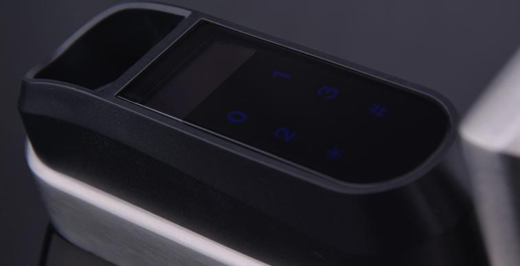 pantalla cerradura electrónica de huella