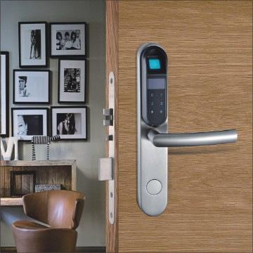 Cerradura por huella autónoma para puertas