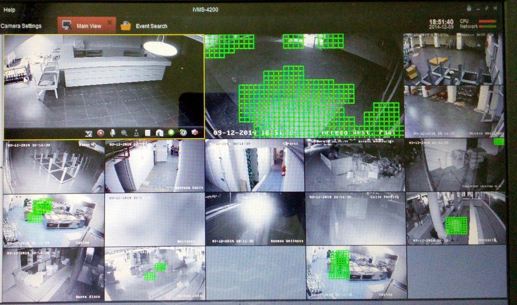 pantalla cámaras cctv